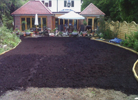 Top soil being laid in Croydon